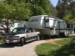 Our rig at Fawndale Oaks