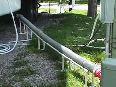 PVC=pipe hose support
